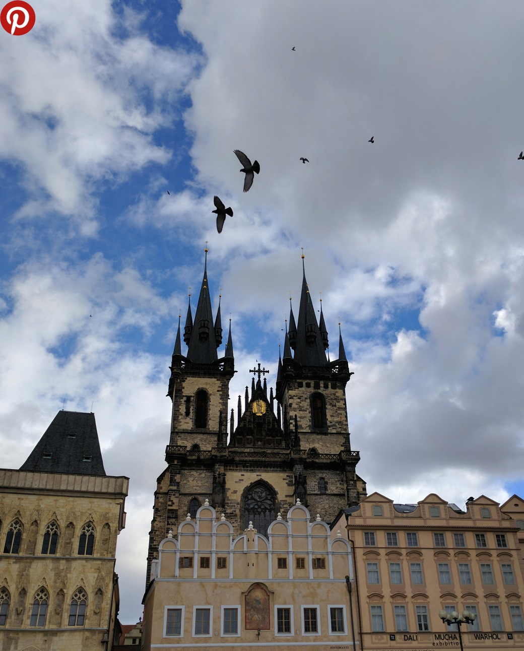 Church of Our Lady before Tyn birds final pinterest