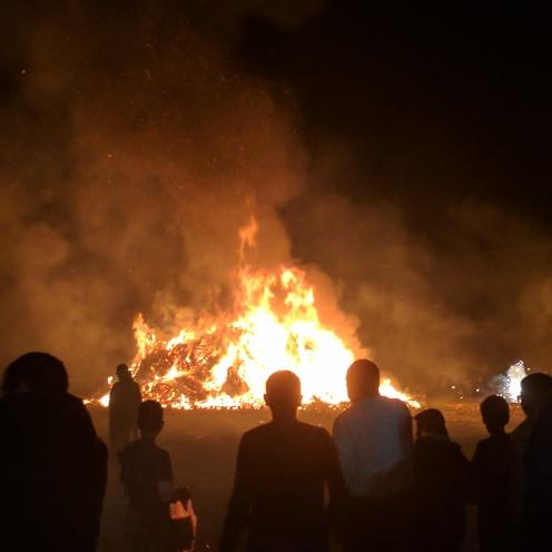 Good Saturday bonfire