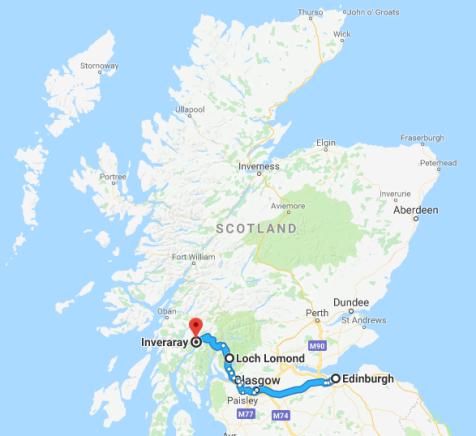 Edinburgh - Loch Lomond - Inveraray